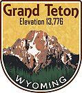 GRAND TETON MOUNTAIN NATIONAL PARK WYOMING HIKING CLIMBING by MyHandmadeSigns