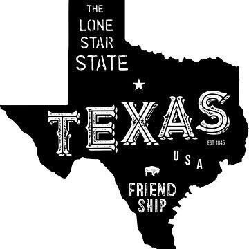 Texas State Shape & Motto & Nickname by Chocodole
