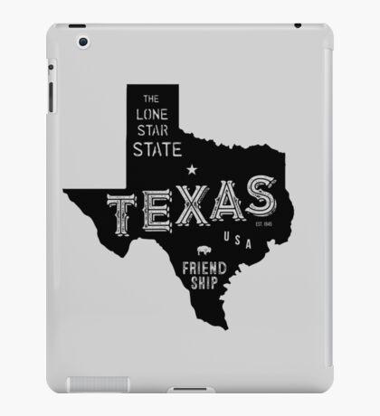 Texas State Shape & Motto & Nickname iPad Case/Skin