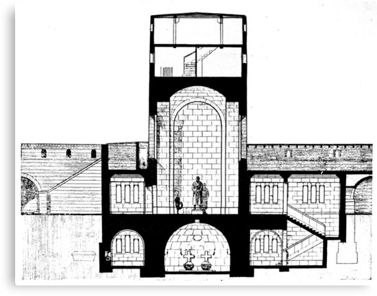 Tannenberg Memorial, Hindenburg Tower plan and crypt, Germany by Remo Kurka