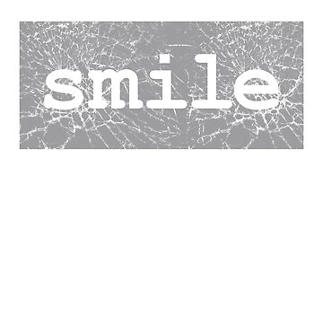 Cute Word Stylish Graphic - Smile by sbdawsey