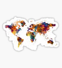 World Map Sticker