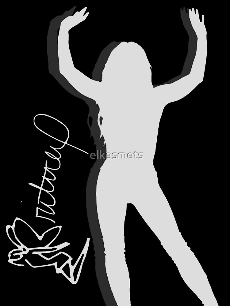 Britney Spears Silhouette White by elkesmets