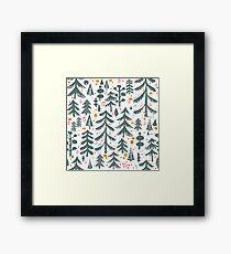 winter woods pattern Framed Print