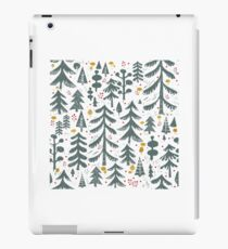 winter woods pattern iPad Case/Skin