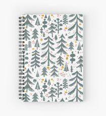 winter woods pattern Spiral Notebook