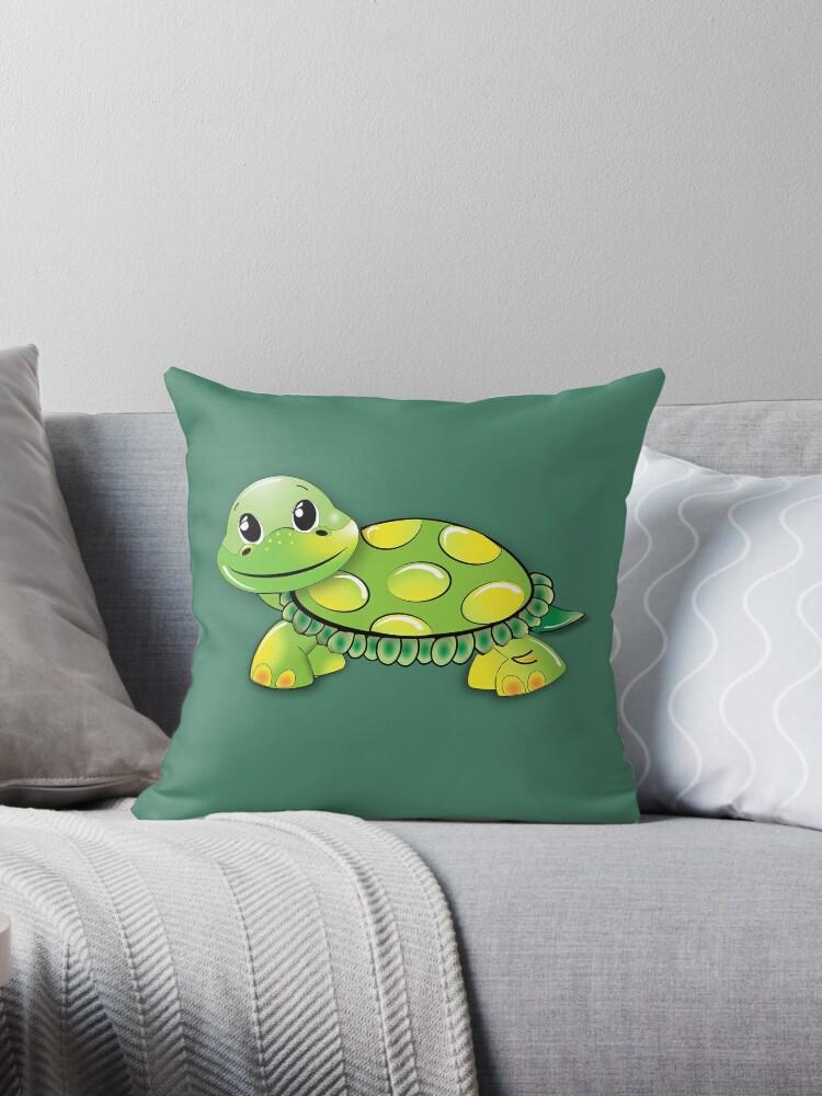 Funny Green Turtle by teegear
