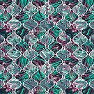 Ogee - Pink & Teal by Vicky Webb