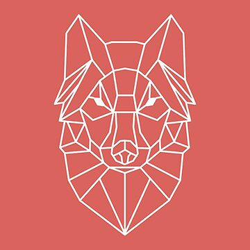 Wolf - Geometric Design by geekyshop