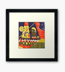 Abstract Piano Bar Framed Print