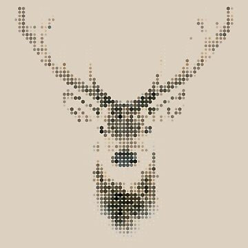 Deer dots art by geekyshop