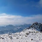 Snowdonia mountain winter scene by therightprofile