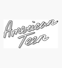 AMERICAN TEEN OUTLINE Photographic Print