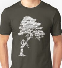 The Bodhi Tree of Awareness (White Version) Unisex T-Shirt