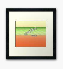 Venice Beach, California | Surf Stripes Framed Print