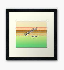 Jacksonville Beach, Florida | Surf Stripes Framed Print