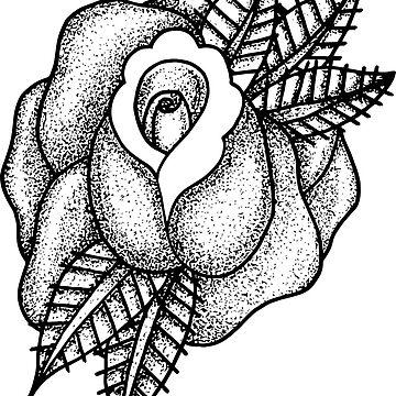 Dotwork Rose by SandyFloss