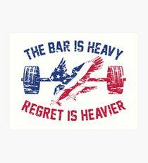 The Bar Is Heavy Regret Is Heavier - RWB Art Print