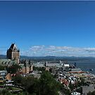 Quebec Cityscape in the Sun by Pandamatastic