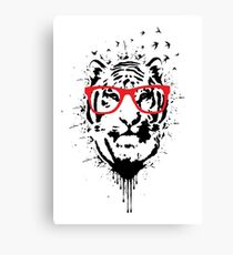 Hipster white Canvas Print