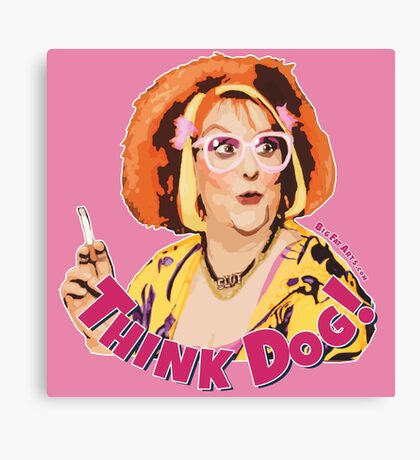 Think Dog (Nipple Pink) Canvas Print