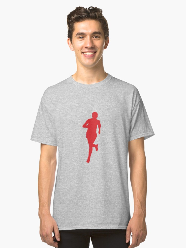 Runner Red Classic T-Shirt Front