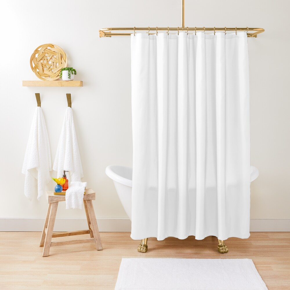 PLAIN WHITE | VERY WHITE | NEUTRAL SHADE | WE HAVE OVER 40 SHADES AND HUES IN THE NEUTRAL PALETTE Shower Curtain