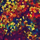 «Patrón de color Crystal Abtract» de La Chic