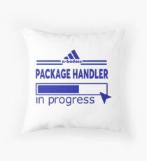 PACKAGE HANDLER Throw Pillow