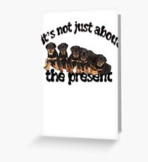 It's Not Just About The Present, Dog Not Toy Message Greeting Card