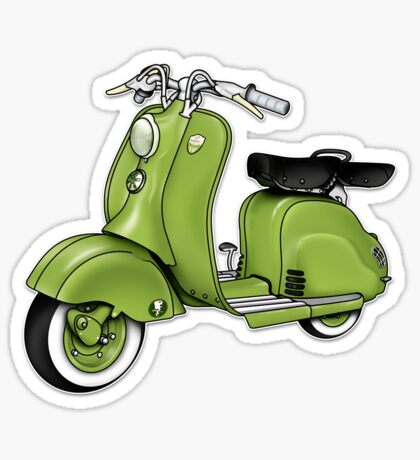 Scooter T-shirts Art: LD 150 - 1955 vintage scooter illustration Sticker