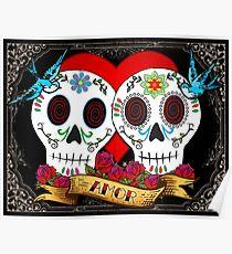 Love Skulls Poster