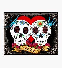 Love Skulls Photographic Print