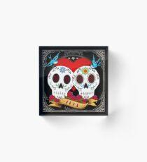 Love Skulls Acrylic Block