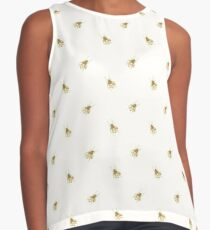 Ditsy Gold Bee Print Contrast Tank