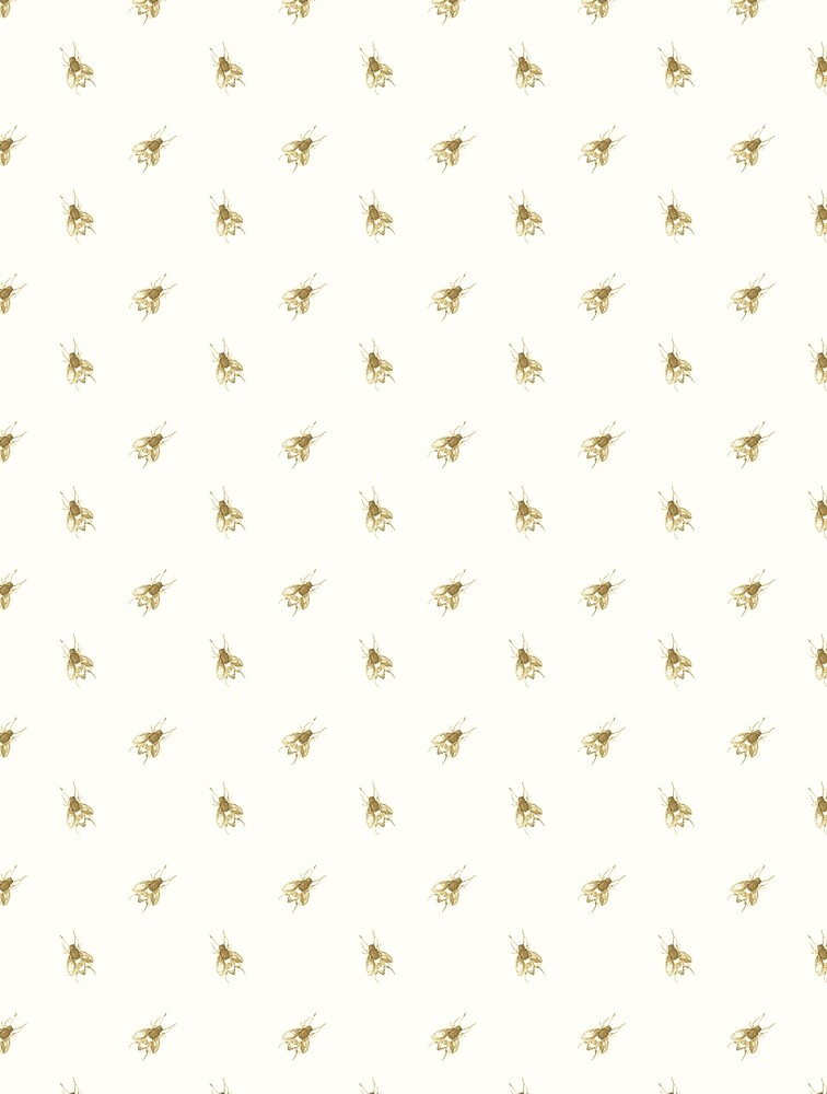 Ditsy Gold Bee Print by LThomasDesigns