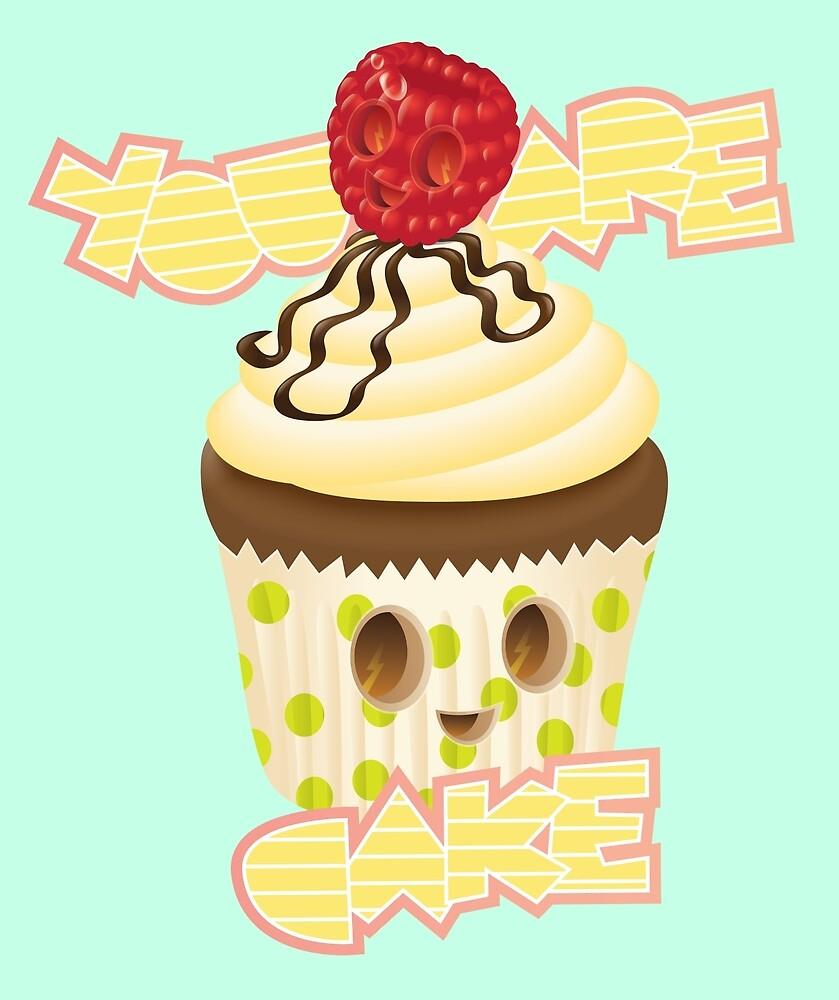 Cake and Raspberries by Olya-Yang