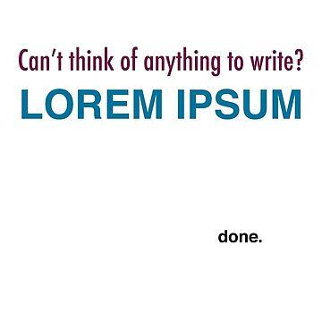 Lorem Ipsum by SarcasticZebra