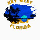 KEY WEST FLORIDA VINTAGE DISTRESSED OCEAN BEACH SUNSET by MyHandmadeSigns