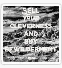 Sell Your Cleverness Sticker