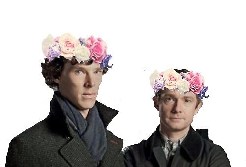 Johnlock Flower Crown by DryRamen
