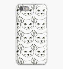 cat pattern iPhone Case/Skin