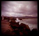 little lighthouse and breakwater by Juilee  Pryor