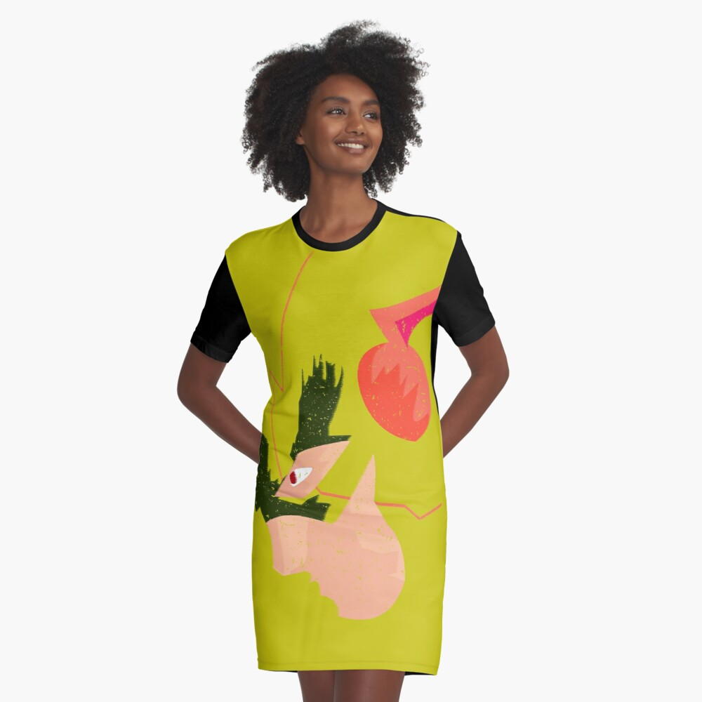 I am The Reverse Graphic T-Shirt Dress Front