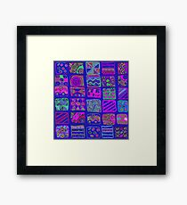 Abstract pattern of geometric shapes Framed Print