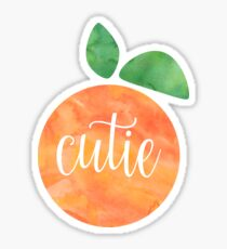 Cutie Watercolor Orange Sticker