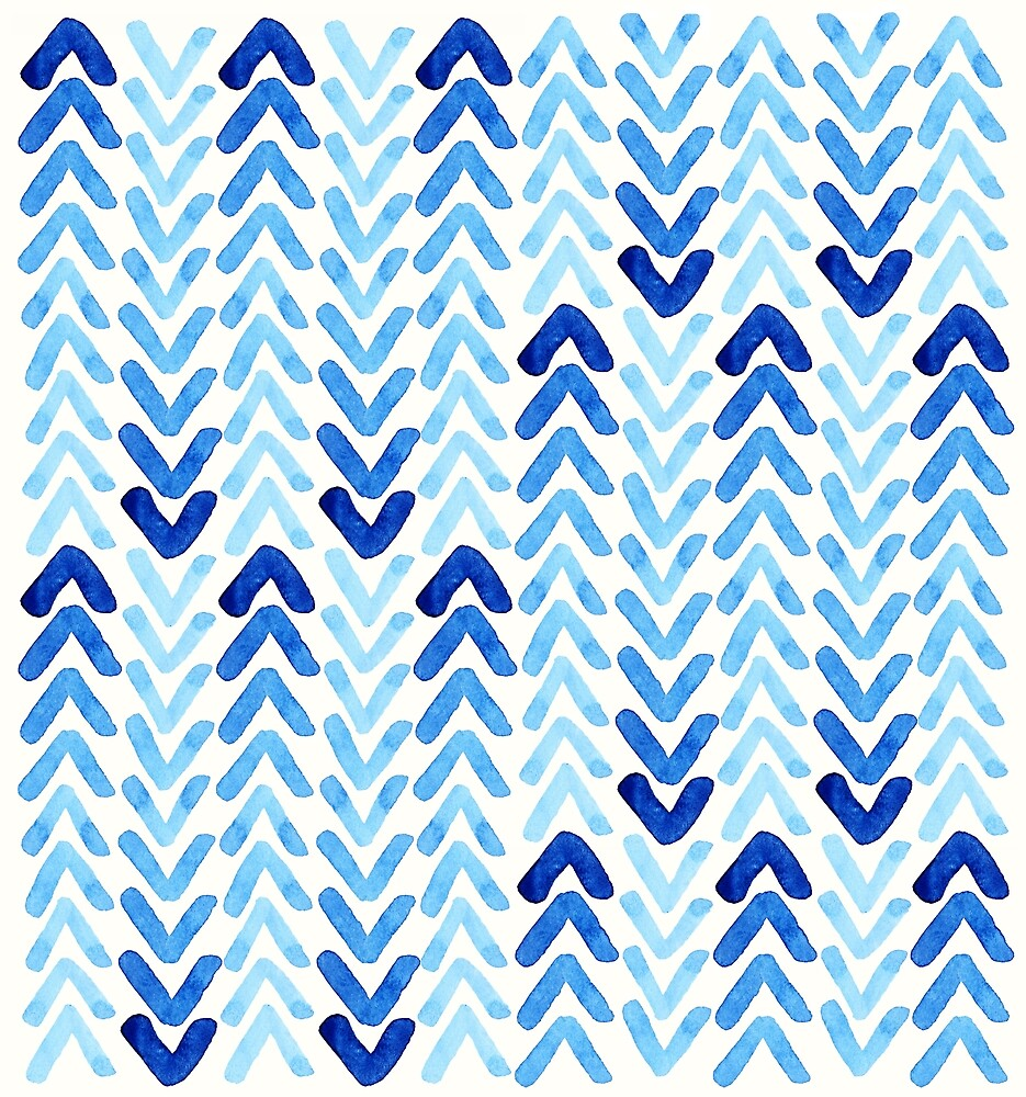 Abstract Watercolour Arrows by LThomasDesigns