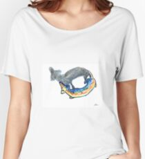Art of Dachshund - Shadow of Dachshund Women's Relaxed Fit T-Shirt