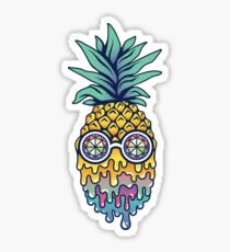 Bass Face Pineapple Sticker