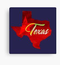 Texas - Watercolor Canvas Print